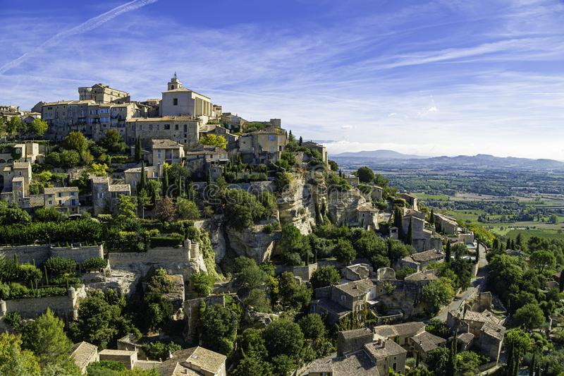 Medieval hilltop town of Gordes. Provence, Luberon national park. Medieval hilltop town of Gordes. Luberon national park. Provence. France, europe, architecture royalty free stock images