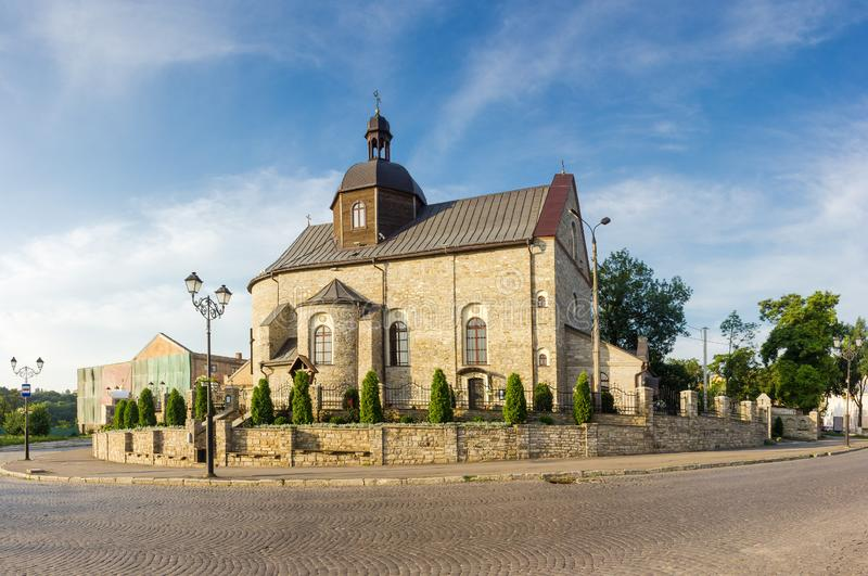 Medieval Holy Trinity Church, Kamianets-Podilskyi city, Ukraine royalty free stock images