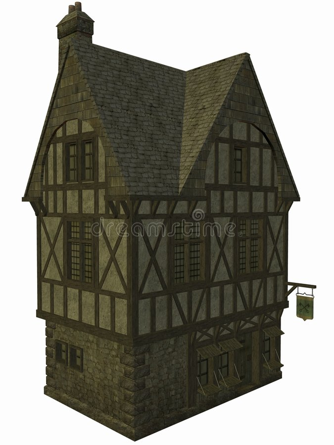 Medieval House royalty free illustration
