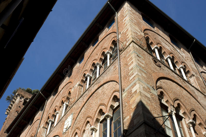 Medieval House Of The Guinigi - Lucca Stock Photo