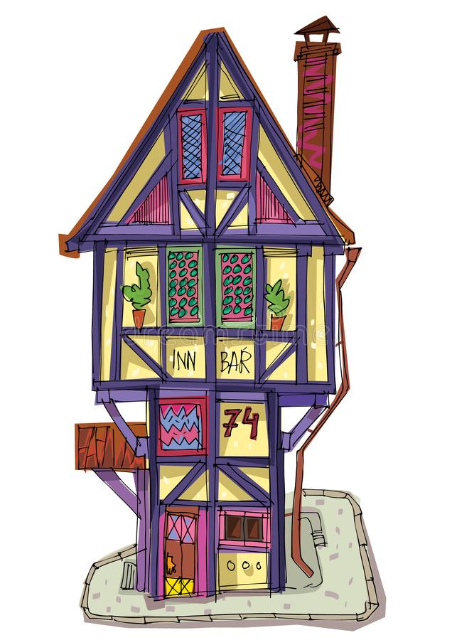 Medieval house. vector illustration