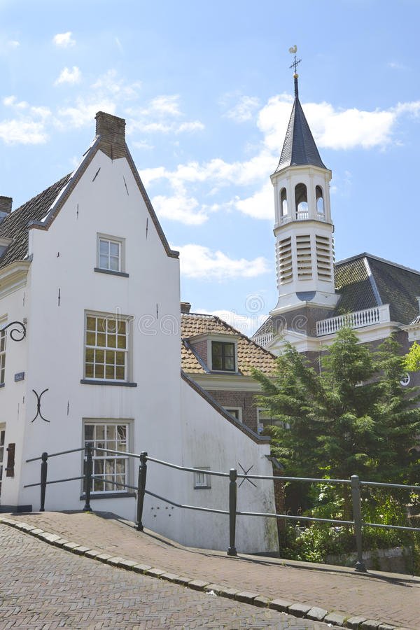 Medieval houses in city of Amersfoort stock images