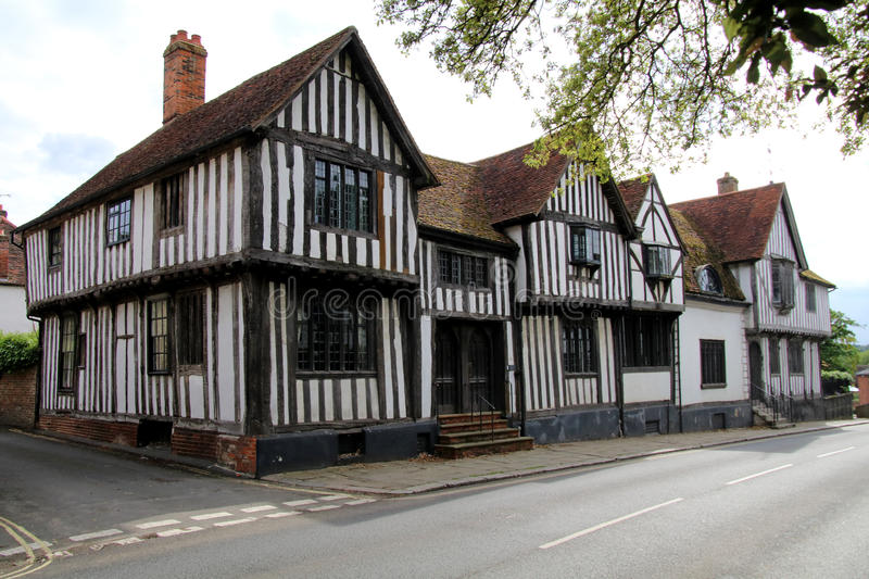Medieval houses royalty free stock photos