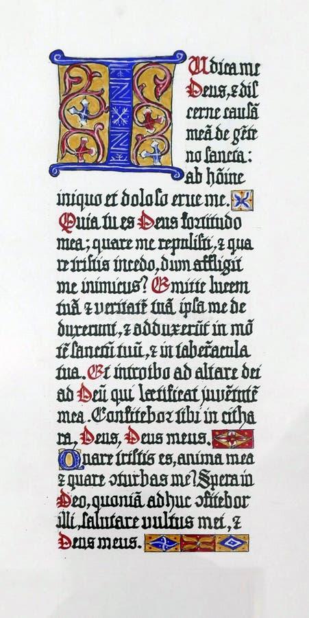 Free Medieval Illuminated Manuscript Calligraphy In Stari Grad Stock Photos - 153166863