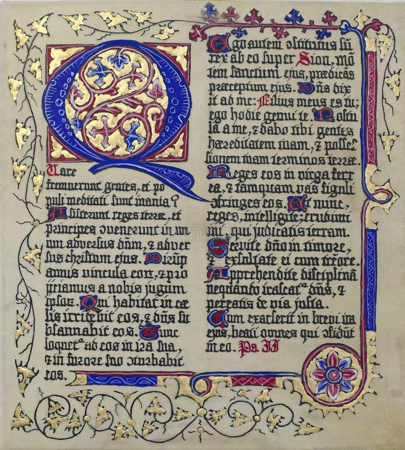 Free Medieval Illuminated Manuscript Calligraphy In Stari Grad Stock Photo - 157432590