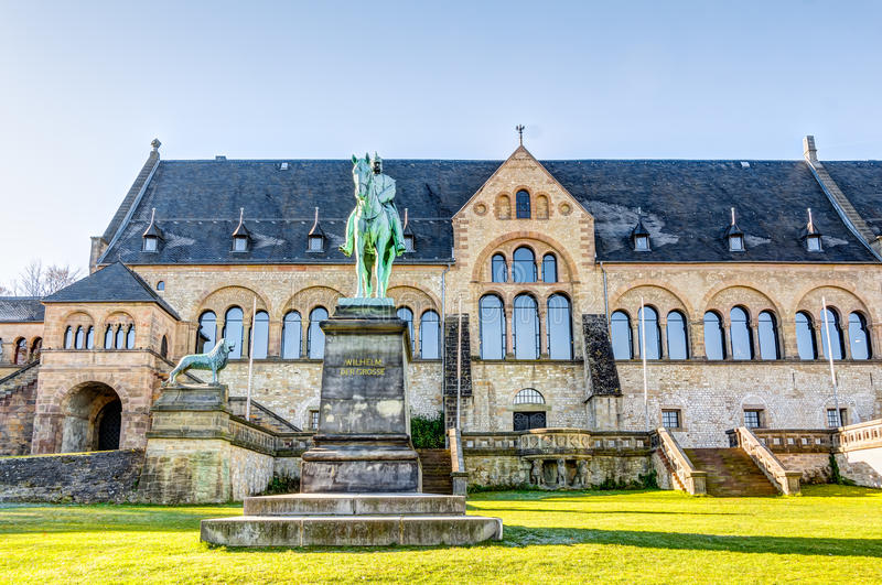 Medieval Imperial Palace. Kaiserpfalz - Medieval Imperial Palace in the old town in Goslar stock photography