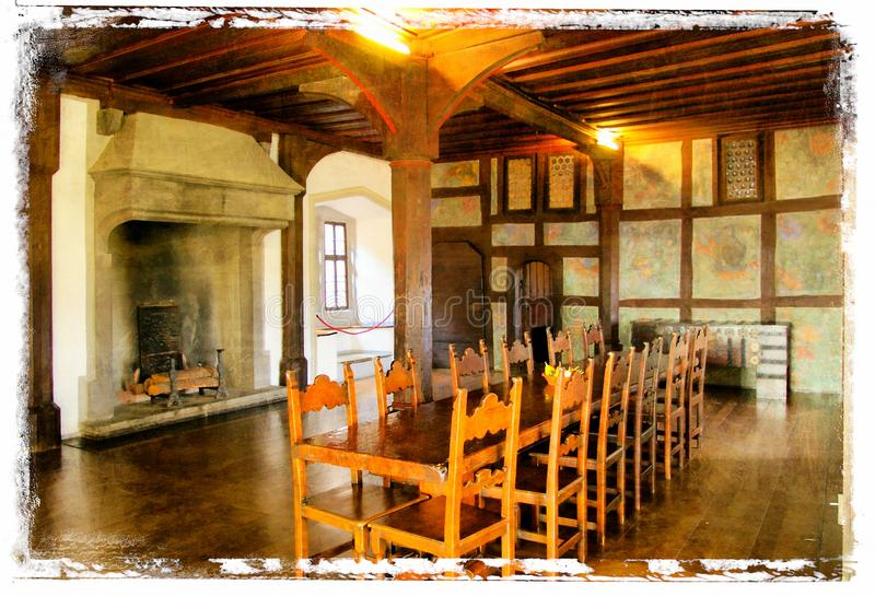 Medieval interior stock photography