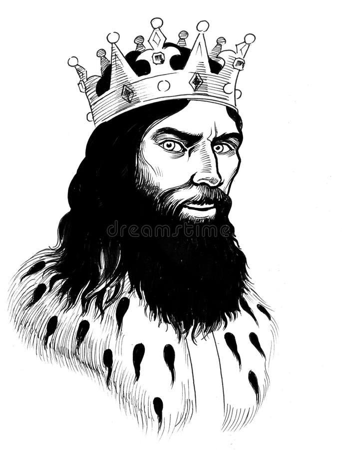 Medieval king stock illustration