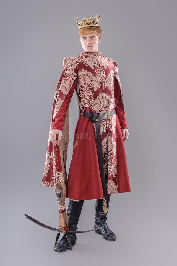 Medieval King stock photo