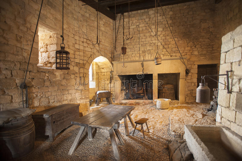 Medieval Kitchen Stock Image Image Of Cook Chateau