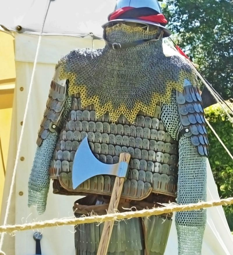 Medieval knight Armour at a show in Northern Ireland stock image