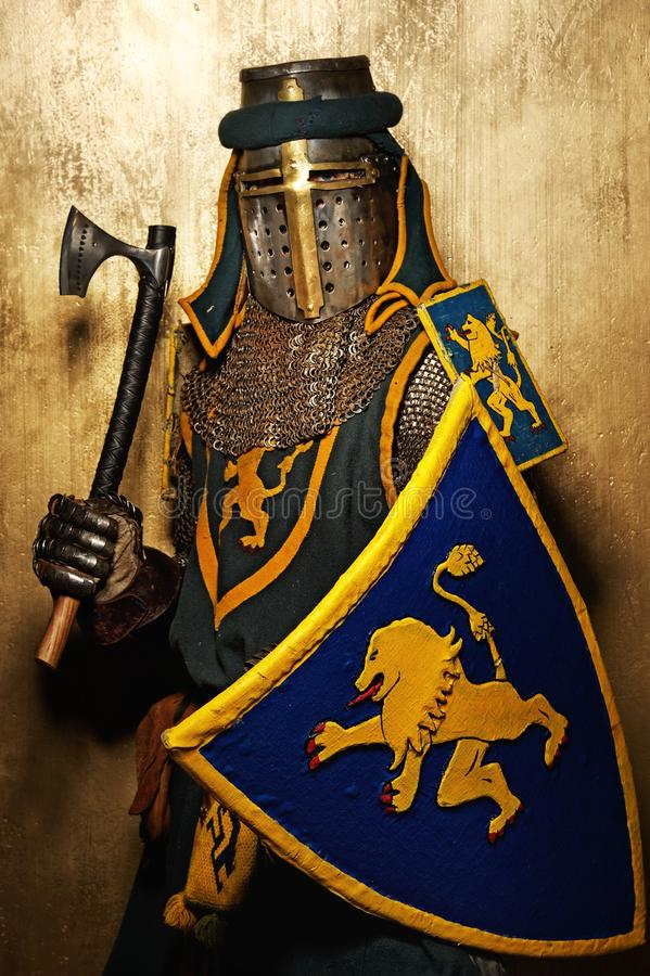 Download Medieval Knight With An Axe Stock Image - Image: 25165787