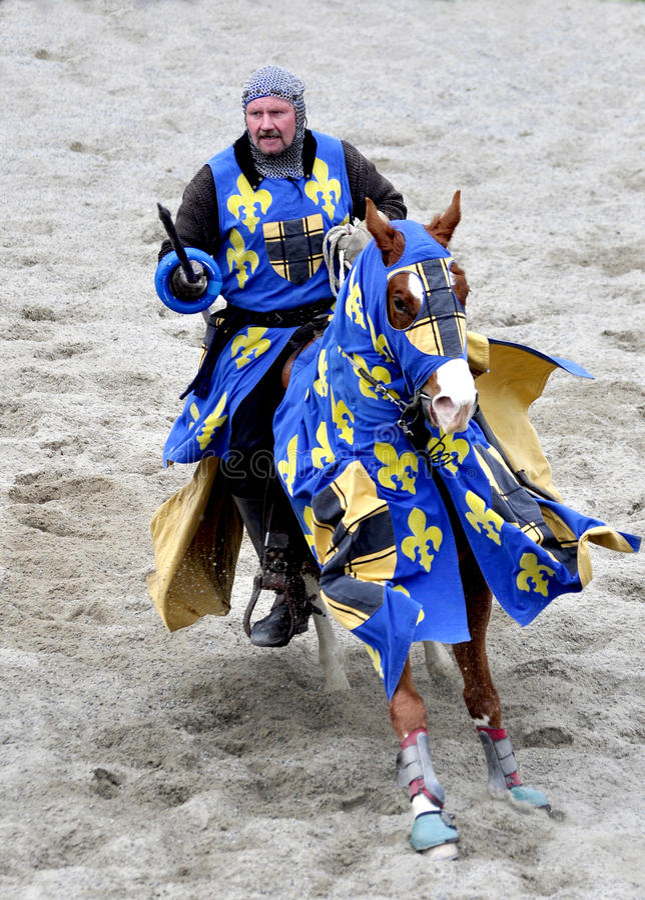 Download Medieval Knight On Horseback Stock Image - Image: 19403347
