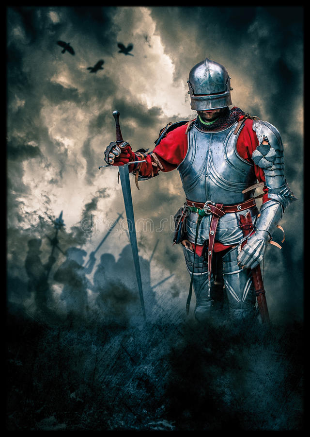 Free Medieval Knight Poster Stock Photography - 49084122