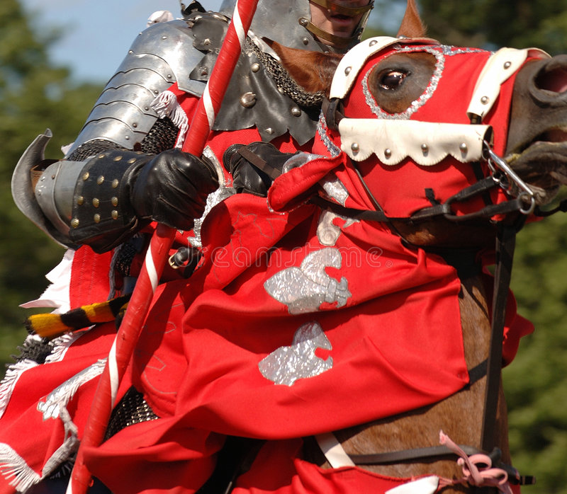 Download MEDIEVAL KNIGHT RIDING A HORSE Stock Photo - Image: 1081584
