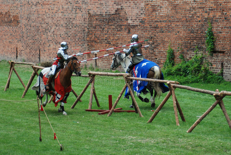 Download Medieval knights jousting stock photo. Image of costume - 3285538