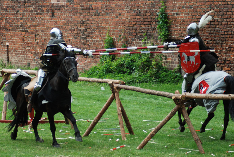 Download Medieval knights jousting stock image. Image of fighting - 3300005