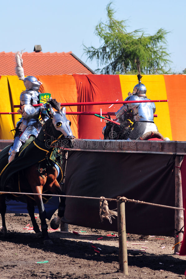 Download Medieval Knights. Jousting. Stock Photo - Image: 5912340