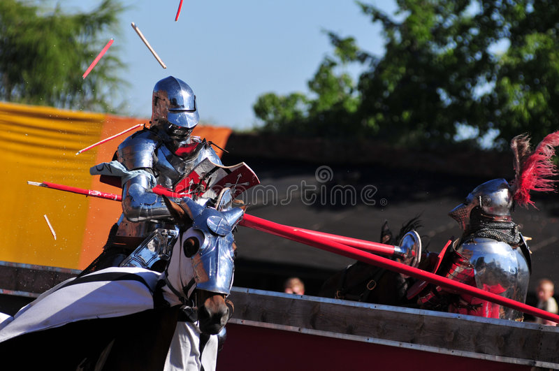 Download Medieval Knights. Jousting. Stock Image - Image: 5912423