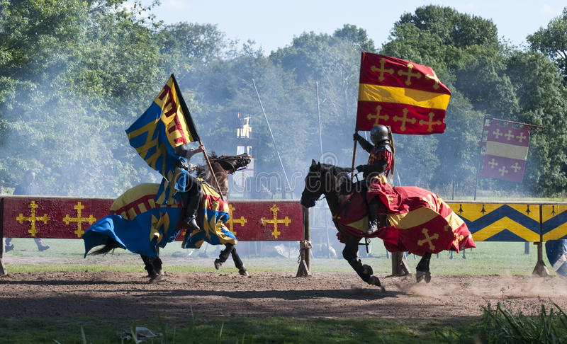 Download Medieval Knights At Warwick Castle Stock Image - Image of english, charge: 15892545