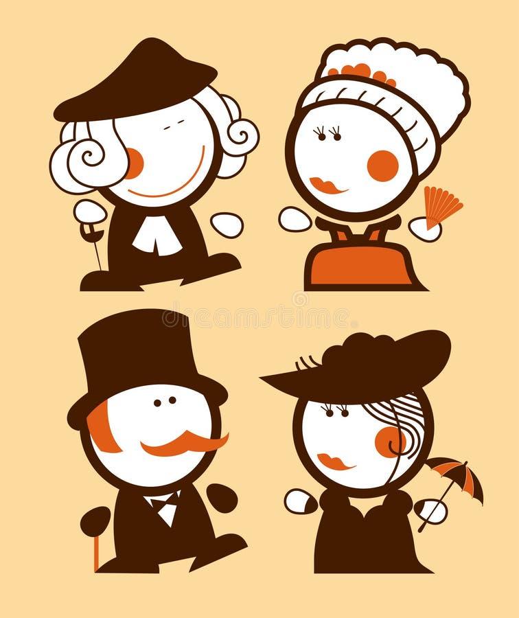 Download Medieval Ladies And Gentlemen Funny People. Stock Vector - Image: 23693021