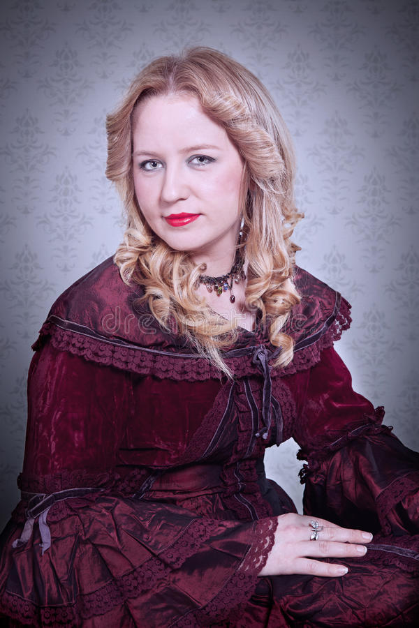 Medieval lady stock photo