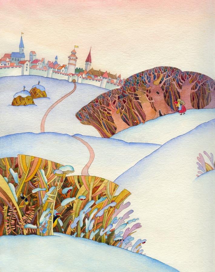 Download Medieval landscape stock illustration. Illustration of colour - 14796977