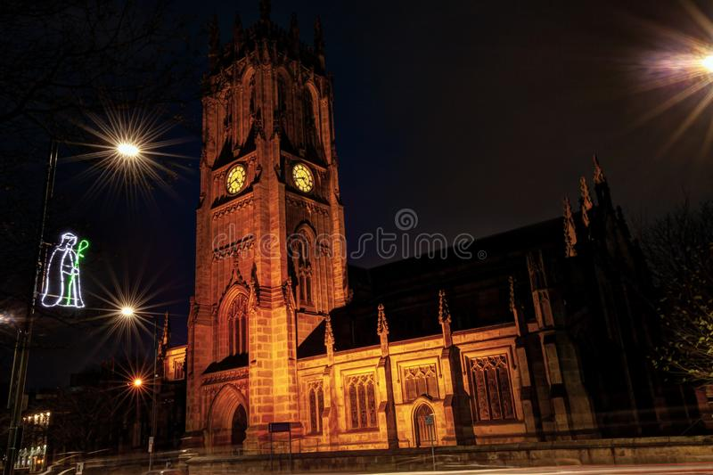 Medieval Leeds Minster Cathedral.Great Britain. stock images