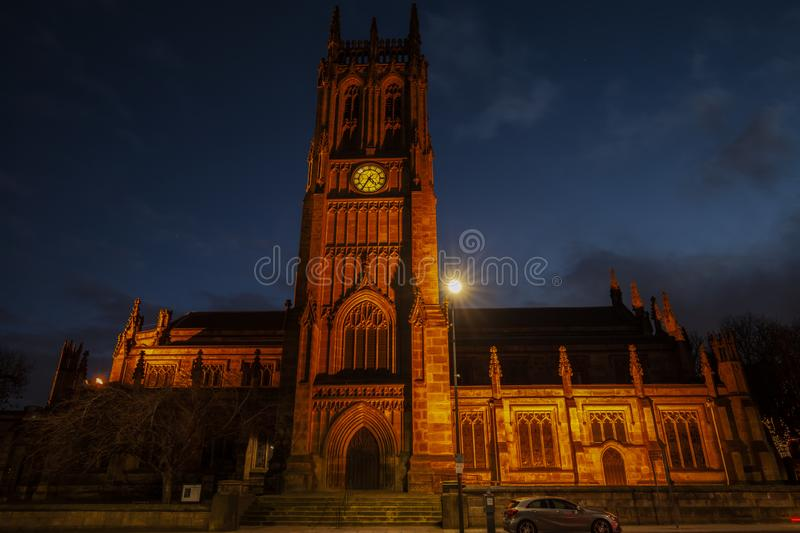 Medieval Leeds Minster Cathedral.Great Britain. stock photography