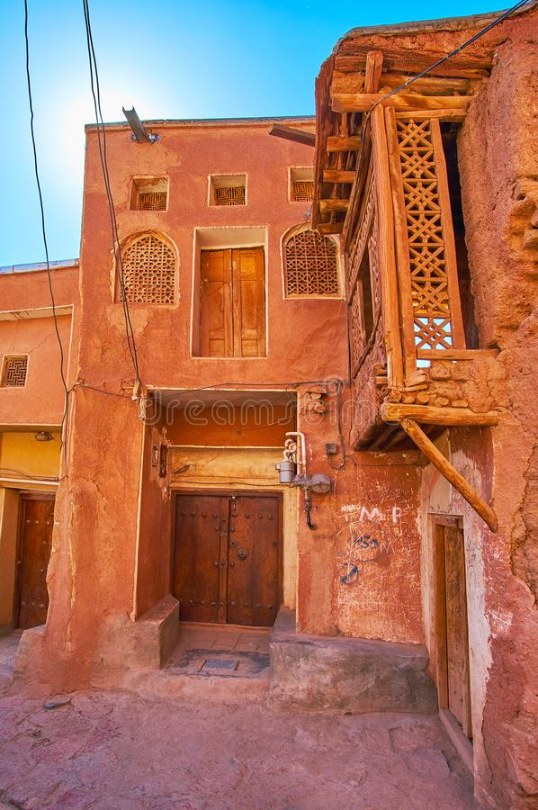 The medieval living houses in Abyaneh village royalty free stock photo
