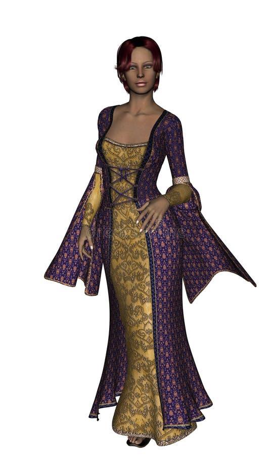 Download Medieval Maid stock illustration. Illustration of model - 3791313