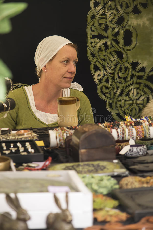 Medieval merchant royalty free stock photo