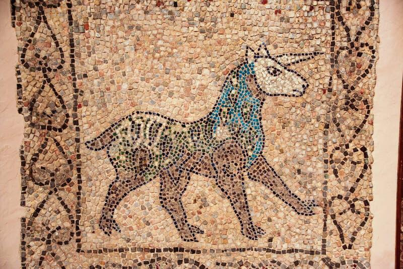 Unicorn mosaic stock photography