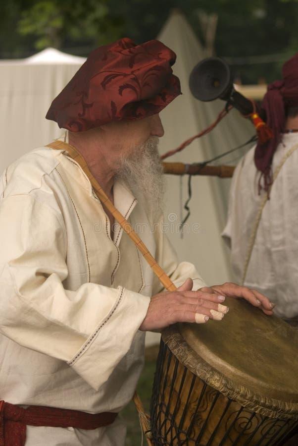 Medieval musician, Tata, Hungary royalty free stock photo