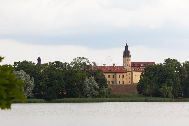 Medieval Nesvizh castle, Belarus. Belarusian tourist landmark attraction Nesvizh Castle - medieval castle in Nesvizh, Belarus stock image