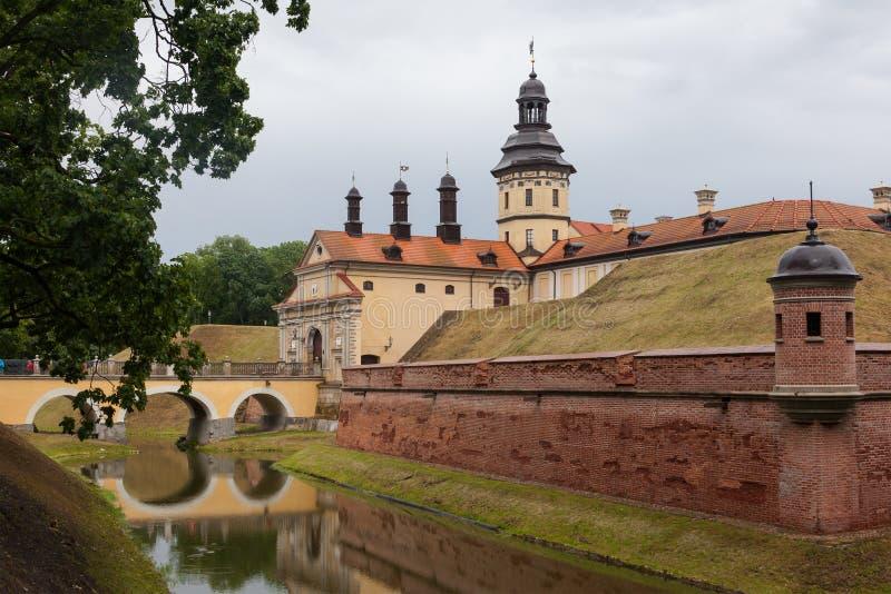 Medieval Nesvizh castle, Belarus. Belarusian tourist landmark attraction Nesvizh Castle - medieval castle in Nesvizh, Belarus stock photography