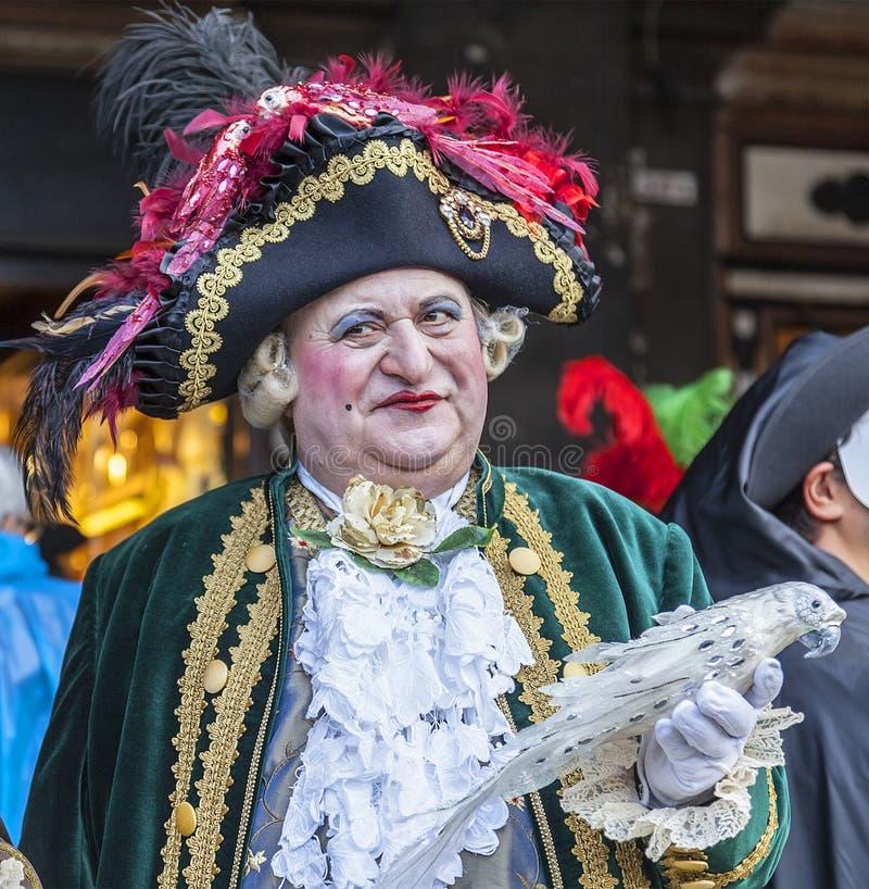 Medieval Nobleman - Venice Carnival 2014 royalty free stock photos