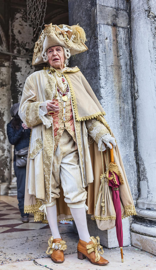 Medieval Nobleman - Venice Carnival 2014 royalty free stock photography