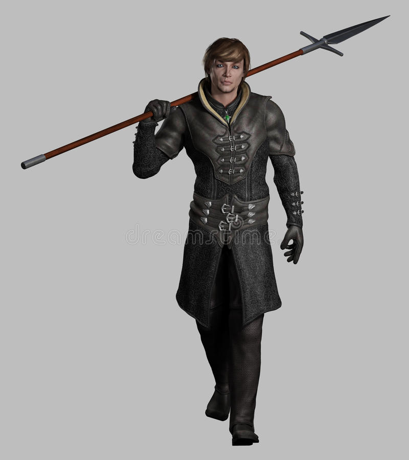 Free Medieval Or Fantasy Spearman Royalty Free Stock Image - 30201346