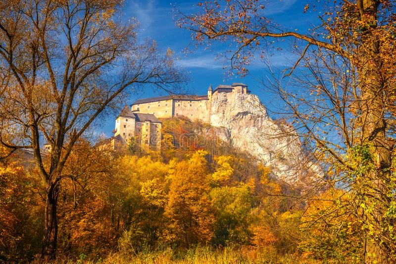 The medieval Orava Castle in autumn, Slovakia. The medieval Orava Castle in autumn, Slovakia, Europe stock photo