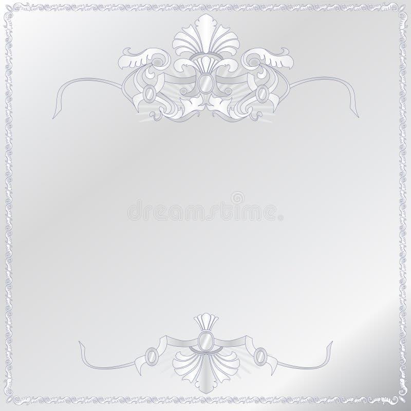 Medieval ornamental frame royalty free illustration