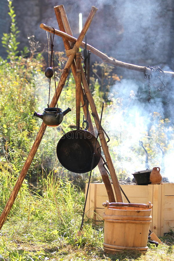 Medieval Outdoor Kitchen Royalty Free Stock Image