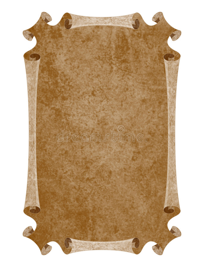 Medieval paper royalty free stock photo