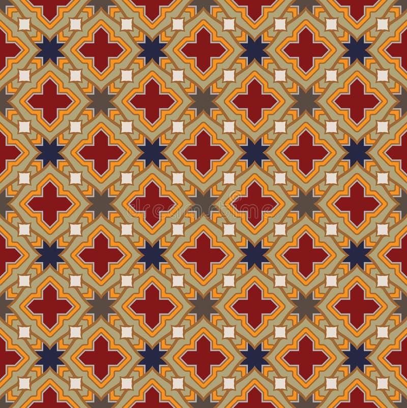 Medieval Pattern. Medieval vintage seamless antique pattern royalty free illustration