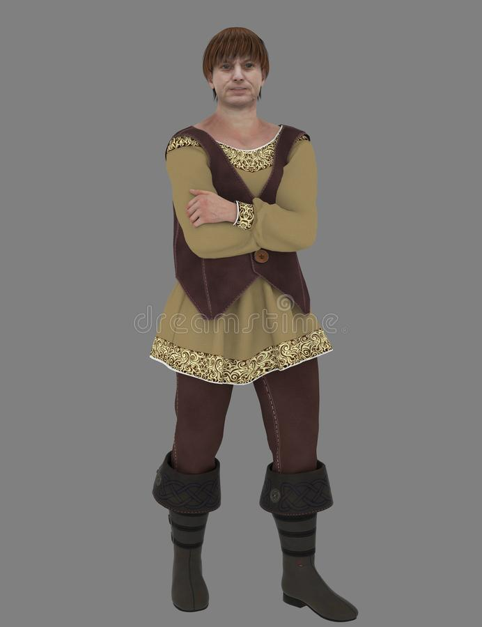 Medieval peasant royalty free stock photo