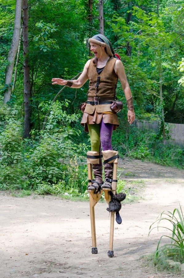 Free Medieval Performer On Stilts Stock Image - 83778841