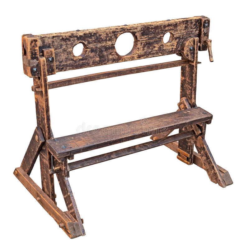 Medieval pillory stock image