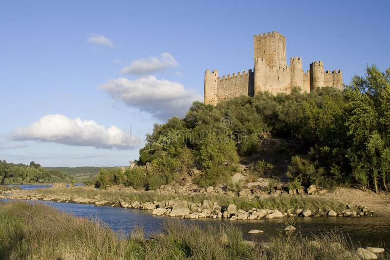 Medieval Portuguese Castle royalty free stock images