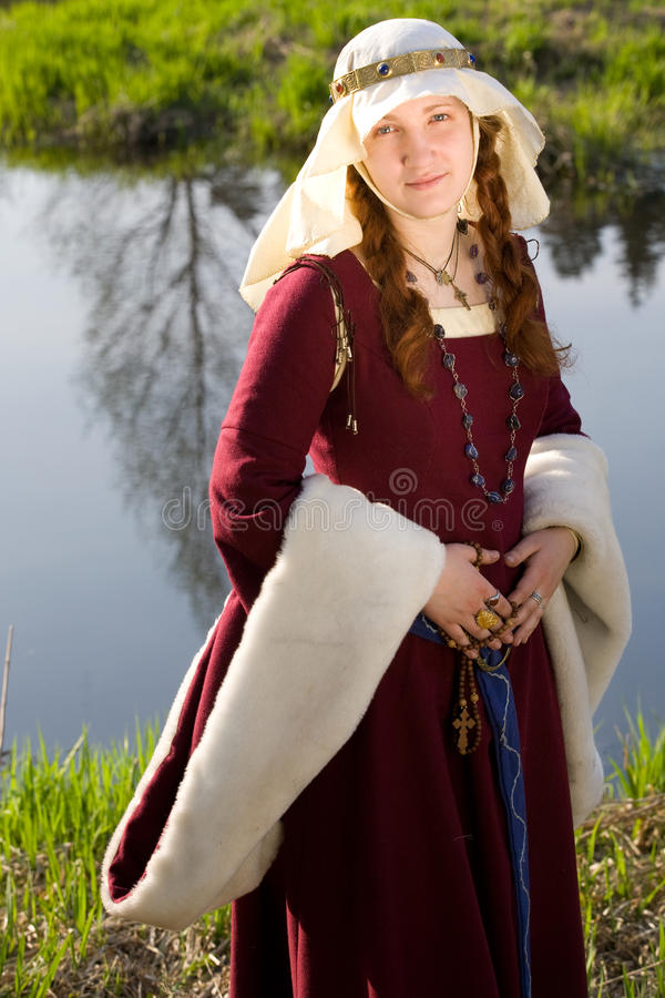 Free Medieval Queen Outdoors Portrait Royalty Free Stock Image - 12547756
