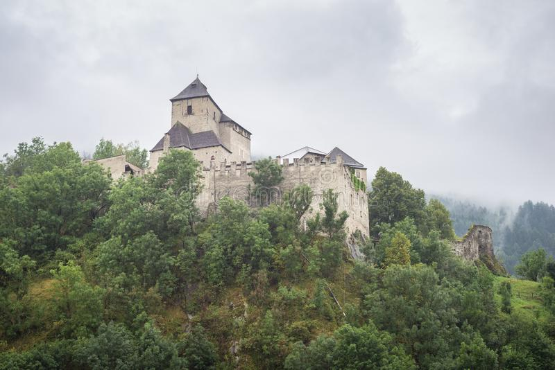 Ancient castle Reifenstein near Vipiteno Sterzing in south Tirol, Italy. Medieval Reifenstein castle in the central Alps close to Sterzing Vipiteno in south stock images